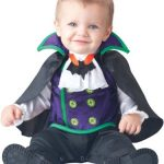 Fun World Baby Boys' Count Cutie Vampire Costume, Black/Purple, Large (18 Months-2T)