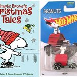 Charlie Brown's Christmas Tales with Hot Wheels Peanuts Snoopy Car 1:64 die cast Bundle