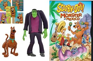 What's New Scooby-Doo? Cartoon & Scooby Doo action Figures Twin Pack – Frightface Scooby and Frankenstein's Monster – Scooby and the Monster of Mexico DVD Sticker Bundle Vol. 1 Animated Set