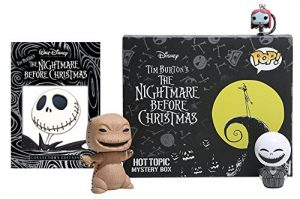 Tim Burton's Nightmare Before Christmas DVD & Exclusive Funko Pop! Figures Bundle