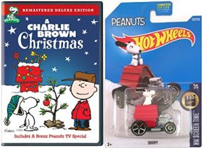 A Charlie Brown Christmas with Hot Wheels Snoopy Car Bundle