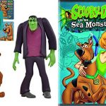Scooby-Doo! and the Sea Monsters Cartoon Movie & Scooby Doo action Figures Twin Pack – Frightface Scooby and Frankenstein's Monster – DVD Sticker Bundle Vol. 1 Animated Set