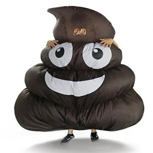 DREAMOWL Inflatable Giant Poop Emoji Costume for Adult Kids Halloween Party Game