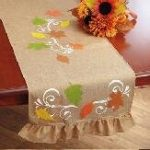 Rustic Autumn Table Runner Fall Harvest Holiday Decor Thanksgiving
