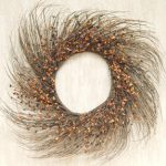 CWI Gifts Primitive Mix Pip Berry Twig Wreath, 22-Inch