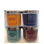 Jarosa's Autumn Woods 4 Scent Variety Candle Gift Set of Bath & Body Works 4 oz/113g Candles with Lid – AUTUMN SUNSHINE, BERRY PUMPKIN STRUDEL, CRANBERRY WOODS & FRESH SPARKLING SNOW