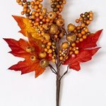 Worth Imports 14″ Fall Berry & Leaf Pick, Set of 3 3, 3 Piece