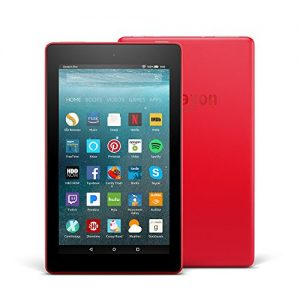 All-New Fire 7 Tablet with Alexa, 7″ Display, 16 GB, Punch Red – with Special Offers