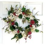 Mills Floral Hydrangea and Red Apple Wreath, 24-Inch