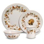 Pfaltzgraff Autumn Berry 32 Piece Dinnerware Set, Service for 8