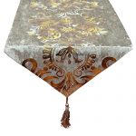 New Hot Stamping Contracted Classic Table Runner (13×98 inch, Beige)