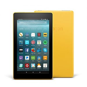 All-New Fire 7 Tablet with Alexa, 7″ Display, 8 GB, Canary Yellow – with Special Offers